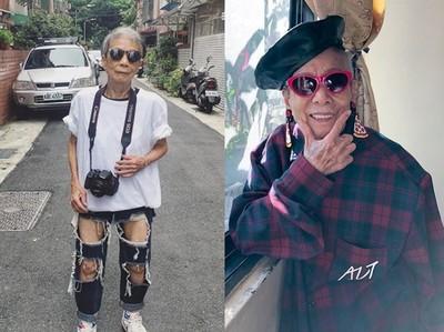 91歲台灣最潮阿嬤「林莊月里」