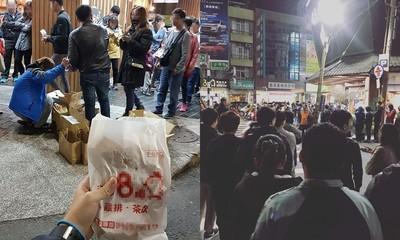 賀林國慶當選縣民!小商人豪發150片雞排