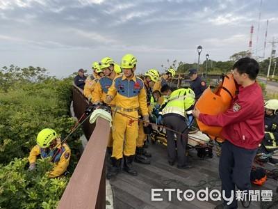 南屯莊園1女摔落山谷 11分鐘後被救起