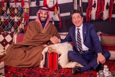 安倍會沙國王儲 緩和中東緊張情勢看法一致
