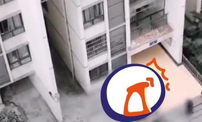 老翁跳12樓 意外砸中打電話男