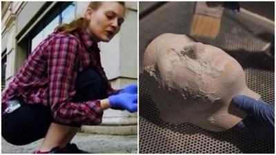 被拿來「提取DNA」!美藝術家用丟掉的菸蒂 重建出原主人的臉