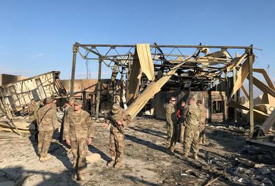 美軍基地被伊朗飛彈炸翻 內部照片首曝光