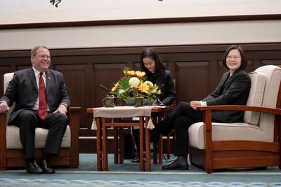 蔡英文:美國是台灣最重要戰略夥伴