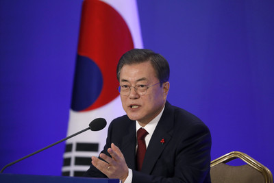 文在寅:對美國北韓對話持續樂觀