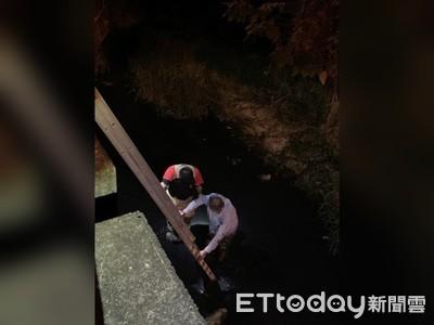 水溝求救聲…民眾嚇壞! 警消出動長梯救援