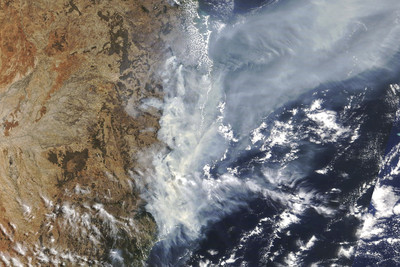 野火濃煙將繞地球一圈 返回澳洲