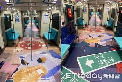 北捷超Q「台北燈節彩繪列車」上路