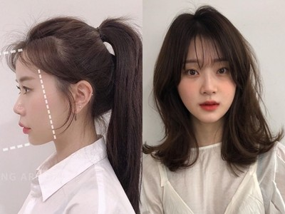 剪出周邊小碎髮修飾成完美V型臉