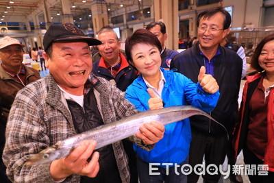 盧秀燕視察魚市菜市讓市民好過年