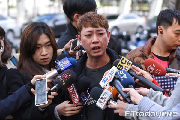 ▲foodpanda熊貓外送,外送員罷工記者會,范先生受訪。(圖/記者林敬旻攝)
