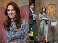 皇室敏感時機凱特王妃亮相 穿630元黑白洋裝對尬梅根4萬毛衣
