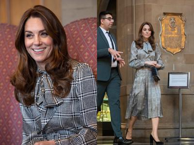 凱特王妃穿630元黑白洋裝