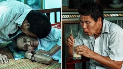 細心吹涼熱牛奶「餵老母親喝」!身障男扛養家重擔:輪到我孝順媽媽了