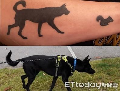 黑犬送養加拿大 爸媽手臂刺上牠