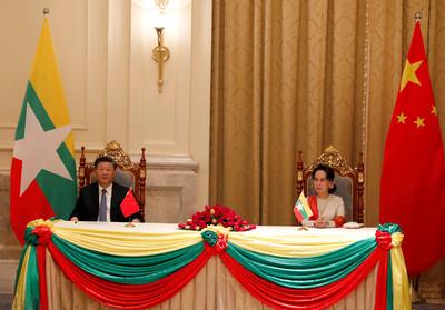 中緬簽署多項協議 支持一帶一路