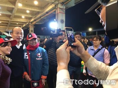 韓國瑜重返高雄市長第7天 天未光視察漁市