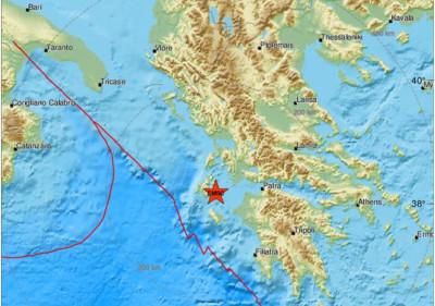 希臘規模5.0地震 深度8公里