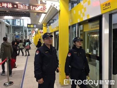 雙北捷運環狀線開放試乘 捷警擴編40人維安