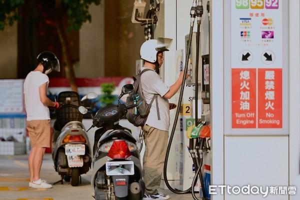 ▲加油站,中國石油,中油,油價,加油,機車。(圖/記者張一中攝)