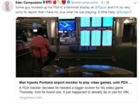 機場就是我家 玩家把PS4接螢幕邊玩邊等飛機