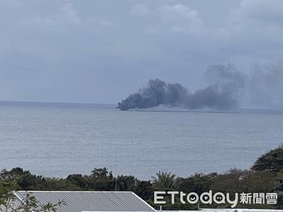成功外海漁船失火 2船員跳海被救上膠筏