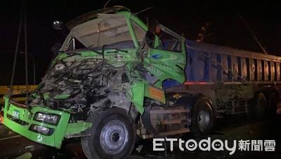 台61砂石車自撞「車頭飛對向」害命