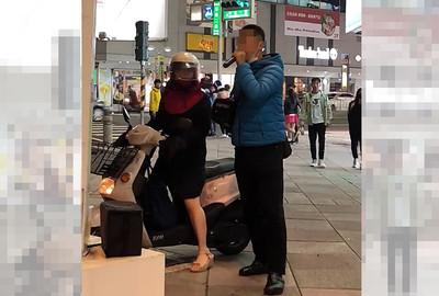 志工宣導罷韓 遭女騎士怒嗆:小心點
