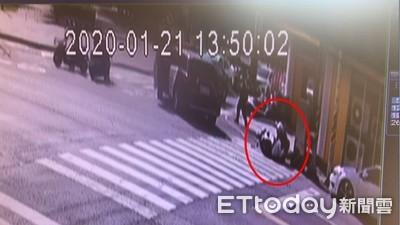 衝撞畫面曝!嘉義通緝犯開車「猛撞正妹警」