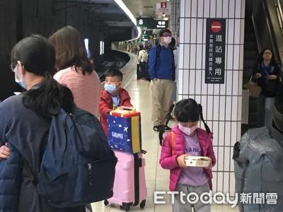 武漢肺炎侵台!高鐵站擠滿戴口罩旅客