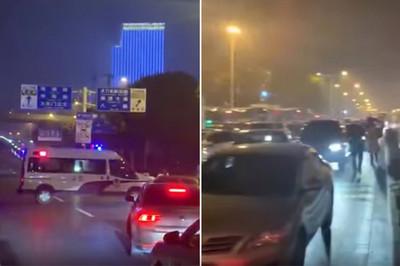 武漢封城影片曝光 警車提前7小時「警車深夜擋路」