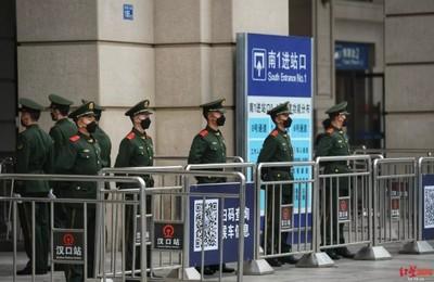 武漢市中心「禁行車輛」避免人員流動傳染