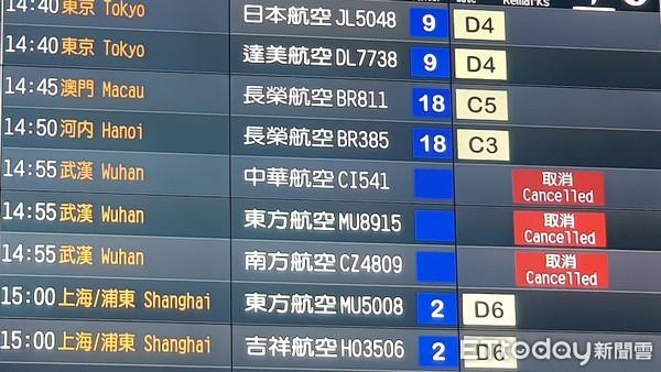 快訊/華航第二波航班異動 1/31~2/10取消10班赴陸航班