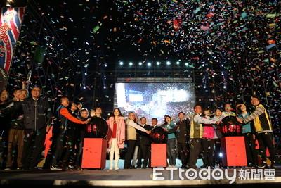台南市議會煙火晚會跨年迎新年