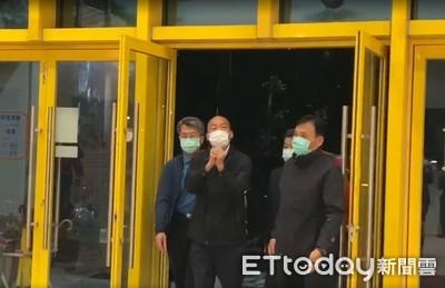 即/84人列管 韓國瑜戴口罩入衛生局