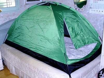 蛤?南韓人在家裡還要睡帳篷?