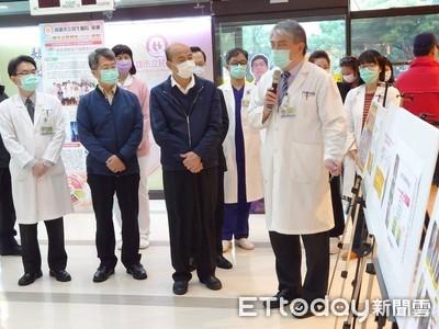 武漢肺炎襲高雄!韓國瑜戴口罩視察醫院