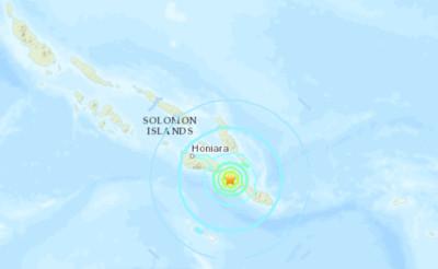 索羅門群島外海「規模6.3地震」