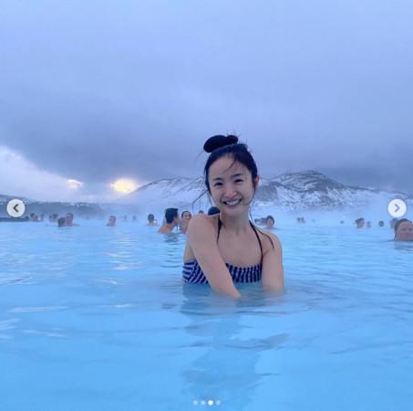 ▲▼林依晨冰島泳裝照。(圖/翻攝自IG/林依晨)