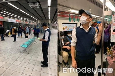 野生韓國瑜出沒高捷!戴口罩視察