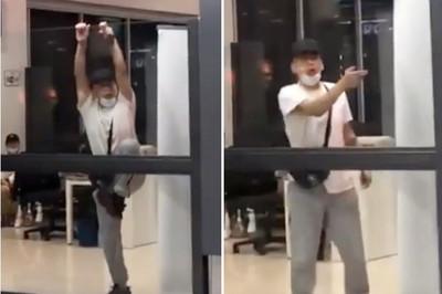 武漢2歲娃確診 武漢爸爸爬玻璃牆闖關