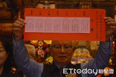 新港奉天宮抽國運籤 中籤:面臨挑戰、團結能解