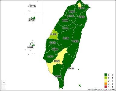 台灣確診8例「通報地圖」出爐