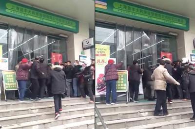上海人搶口罩 「互毆全武行」