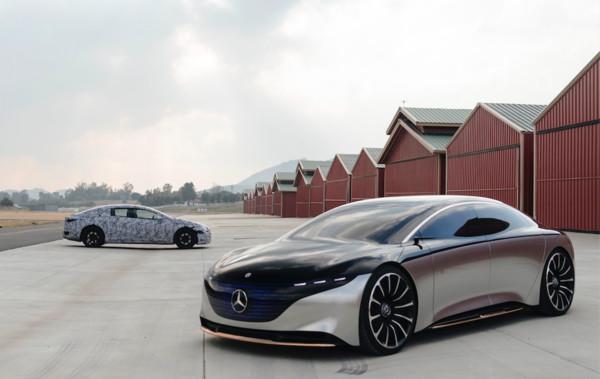▲賓士EQS原型車亮相。(圖/翻攝自Mercedes-Benz)