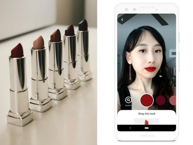 Pinterest推出AR美妝虛擬濾鏡