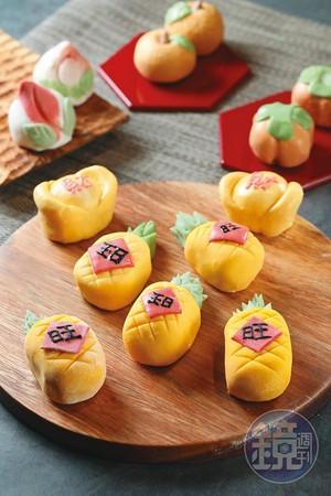 配合過年,阿古老師還設計了多款元寶、壽桃、柿子、橘子,討個好兆頭。