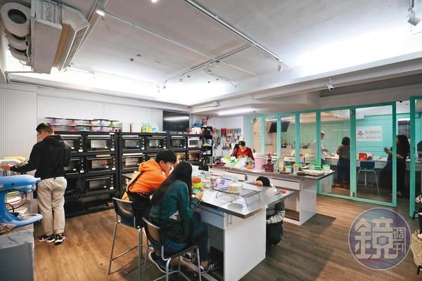 「易烘焙」課程包山包海,從基礎蛋糕到高階造型甜點都有得學。