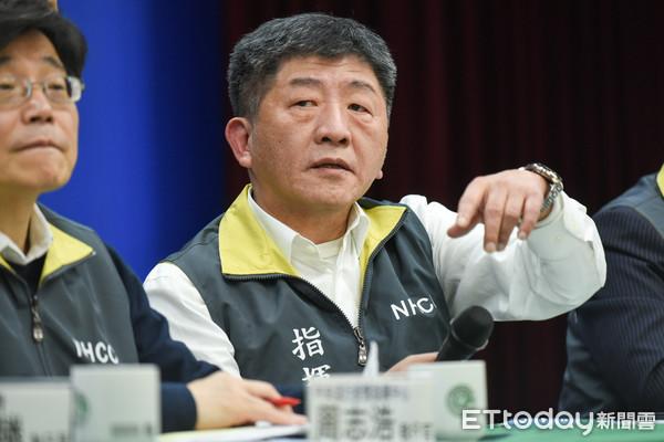 ▲中央流行疫情中心指揮官陳時中召開記者會。(圖/記者林敬旻攝)