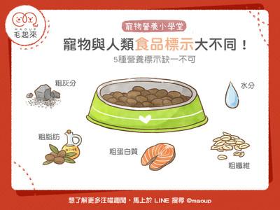 缺一不可!「5營養標示」毛孩必吃...粗脂肪=每餐必備